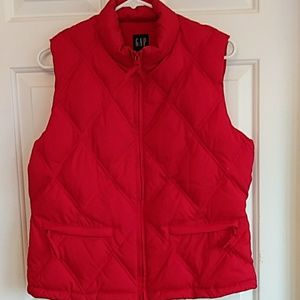 GAP Red Down Vest in Size Medium